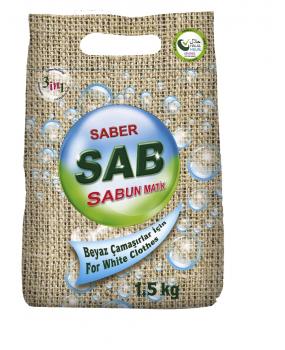 SAB-SABUNMATİK KONSANTRE ÇAMAŞIR TOZU(BEYAZLAR İÇİN 1.5kg)
