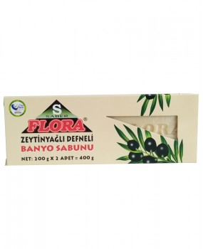 FLORA ZEYTİNYAĞLI DEFNELİ SABUN(400 g)